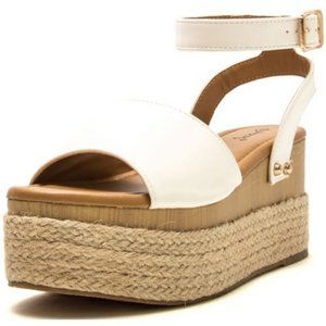 Sale 🌻White Espadrille Flatform Sandals